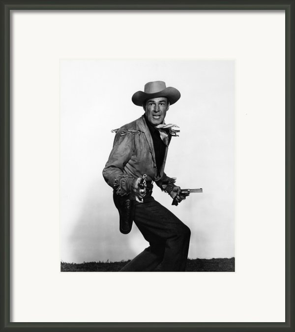 Fort Worth, Randolph Scott, 1951 Framed Print By Everett