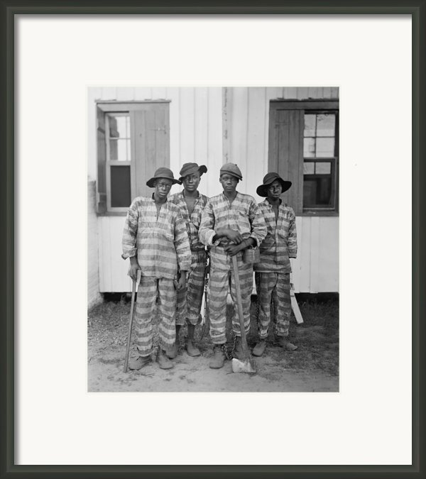 Four African American Youths Framed Print By Everett