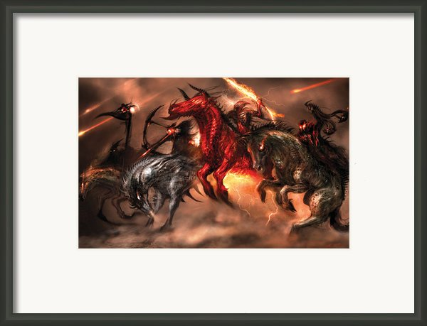 Four Horsemen Framed Print By Alex Ruiz