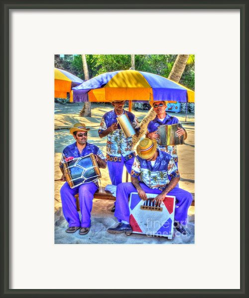 Four Man Band Framed Print By Michael Garyet