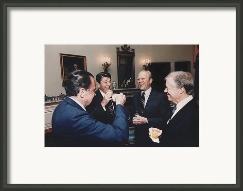 Four Presidents Nixon Reagan Ford Framed Print By Everett