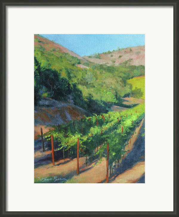 Four Rows Napa Valley Framed Print By Anna Bain