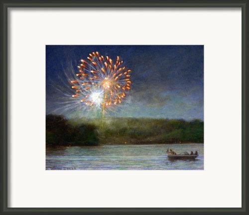 Fourth Of July- Cazenovia Lake Framed Print By Wayne Daniels