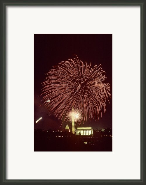 Fourth Of July Fireworks Display Framed Print By Kenneth Garrett