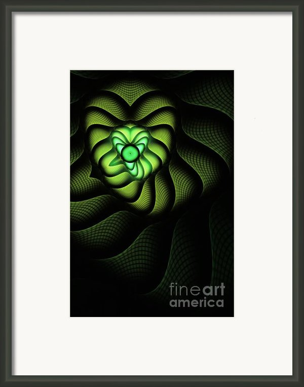 Fractal Cobra Framed Print By John Edwards