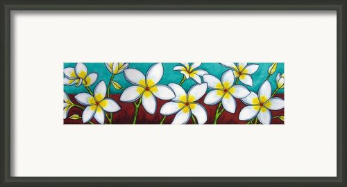 Frangipani Delight Framed Print By Lisa  Lorenz