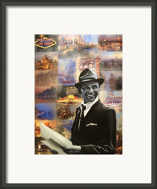 Frank Sinatra Framed Print By Ryan Jones