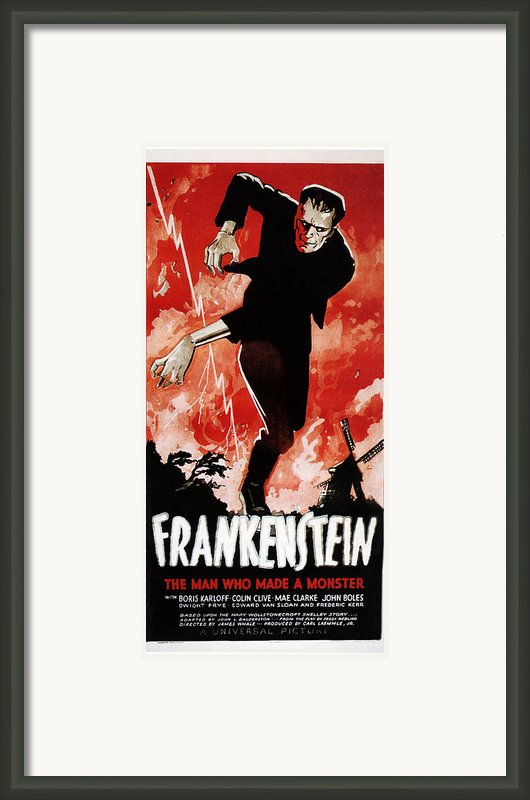 Frankenstein, Boris Karloff, 1931 Framed Print By Everett