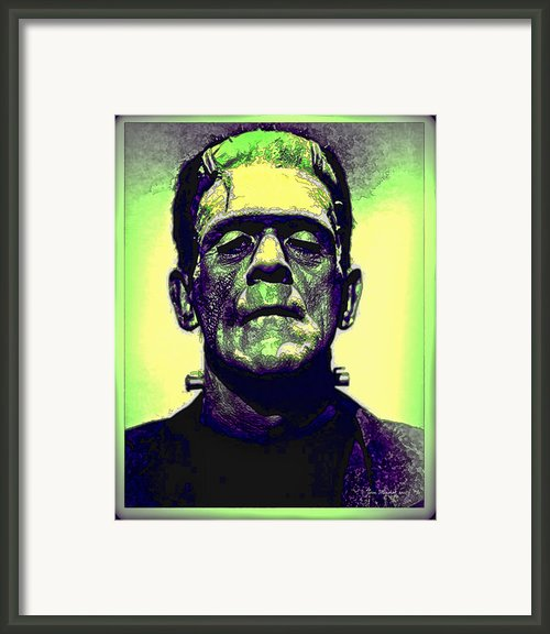 Frankenstein In Color Framed Print By Joan  Minchak