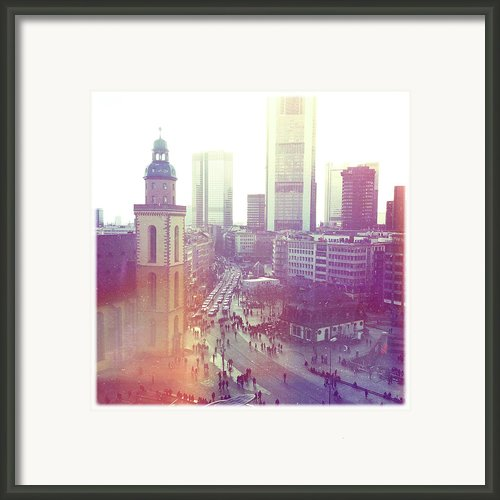 Frankfurt Downtown Framed Print By Ixefra