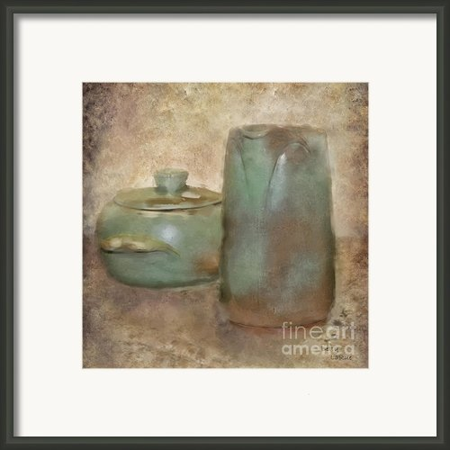 Frankhoma Pottery Framed Print By Betty Larue