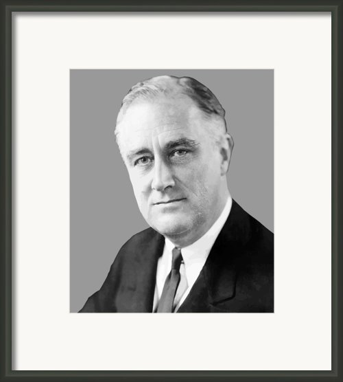 Franklin Delano Roosevelt Framed Print By War Is Hell Store