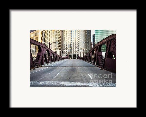 Franklin Orleans Street Bridge Chicago Loop Framed Print By Paul Velgos