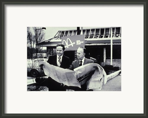 Fred Turner And Ray Kroc The Executive Framed Print By Everett