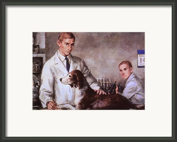 Frederick Banting And Charles Best Framed Print By Everett