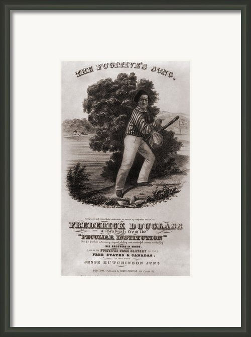 Frederick Douglass 1818-1895 Framed Print By Everett