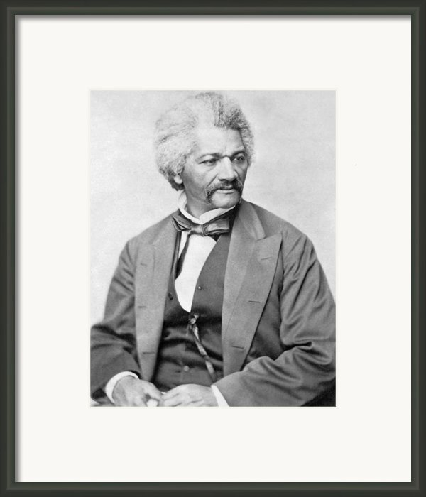 Frederick Douglass Framed Print By War Is Hell Store