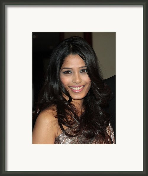 Freida Pinto At Arrivals For Arrivals - Framed Print By Everett
