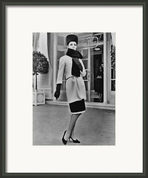 French Designer, Christian Dior Framed Print By Everett