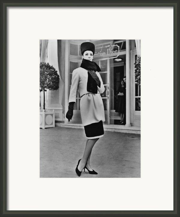 French Designer, Christian Dior Framed Print By Everett
