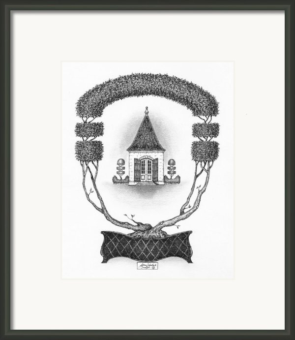 French Garden House Framed Print By Adam Zebediah Joseph