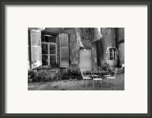 French Garden Framed Print By Jan Carr