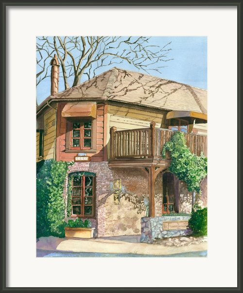 French Laundry Restaurant Framed Print By Gail Chandler