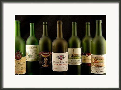 French Wine Labels Framed Print By David Campione