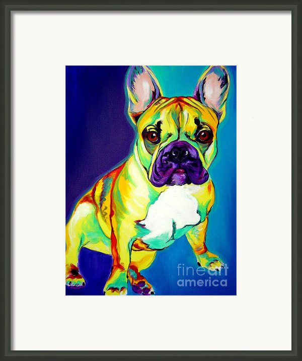 Frenchie - Tugboat Framed Print By Alicia Vannoy Call