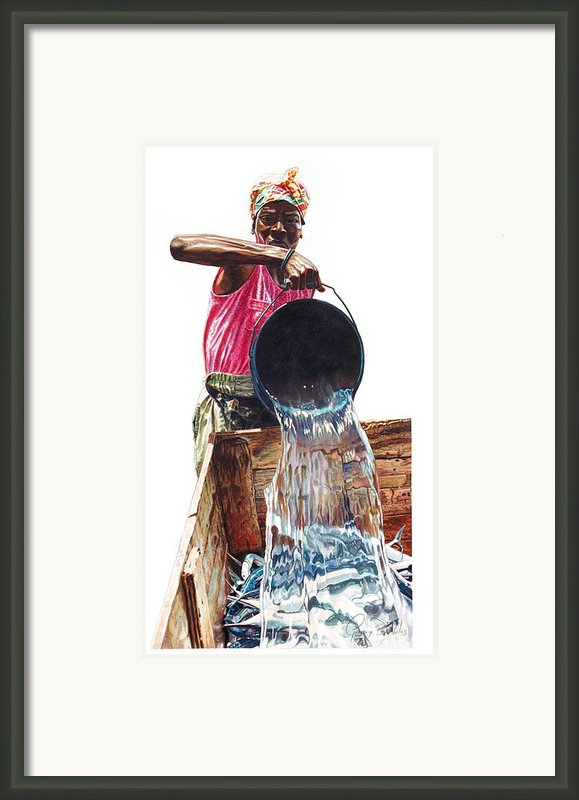 Fresh Fish Today Framed Print By Gregory Jules