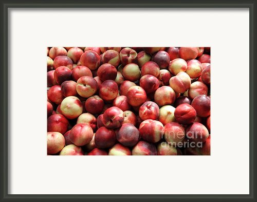 Fresh Nectarines - 5d17813 Framed Print By Wingsdomain Art And Photography
