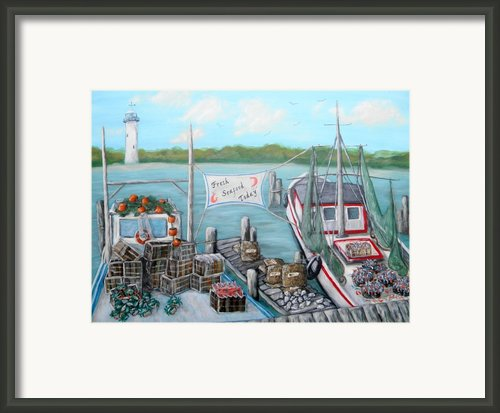 Fresh Seafood  Framed Print By Joann Wheeler