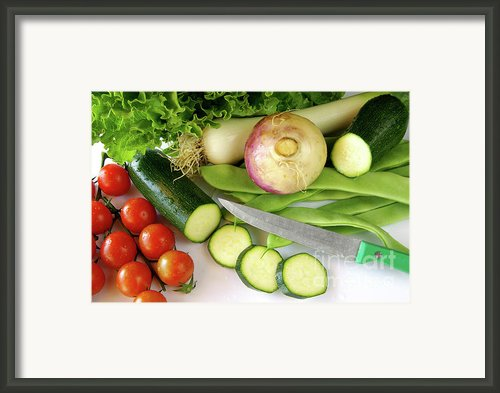 Fresh Vegetables Framed Print By Carlos Caetano