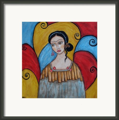 Frida Kahlo Framed Print By Rain Ririn