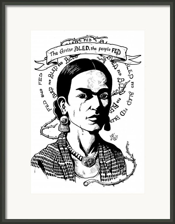 Frida Framed Print By Marcus Anderson
