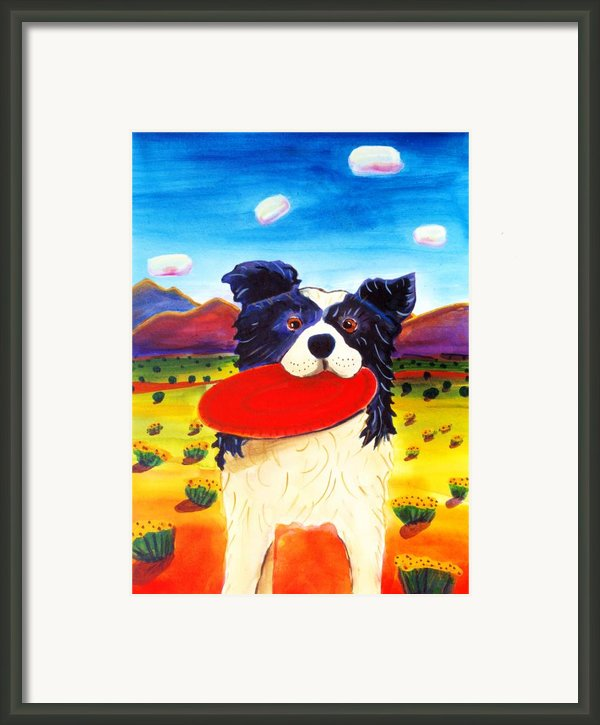 Frisbee Dog Framed Print By Harriet Peck Taylor