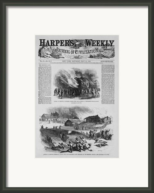 Front Page Of A Newspaper Reports Framed Print By Everett