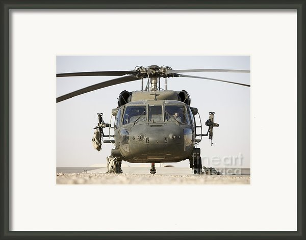 Front View Of A Uh-60l Black Hawk Framed Print By Terry Moore