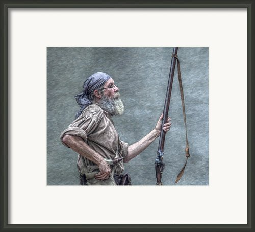 Frontiersman Face Of Time Framed Print By Randy Steele