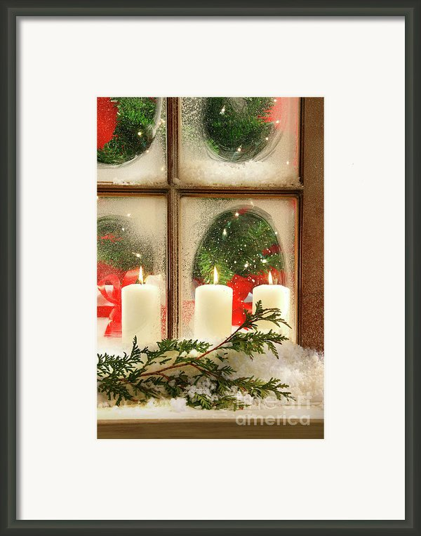 Frosted Window Framed Print By Sandra Cunningham