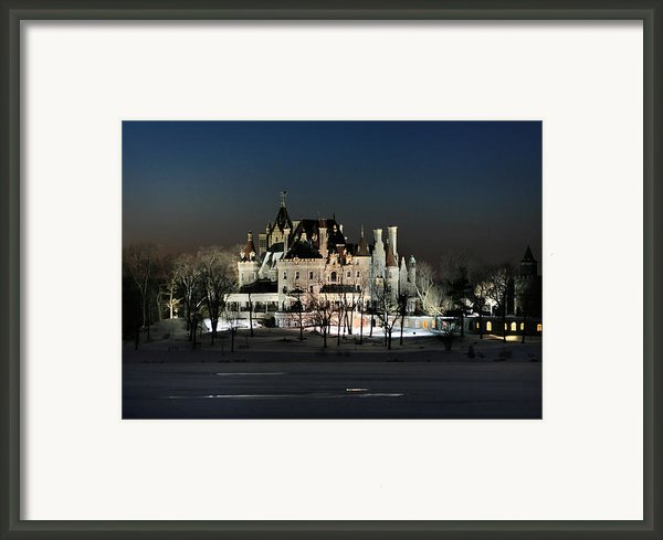 Frozen Boldt Castle Framed Print By Lori Deiter