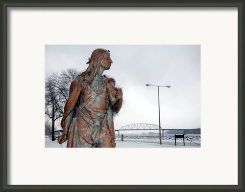 Frozen Glare Framed Print By Jame Hayes