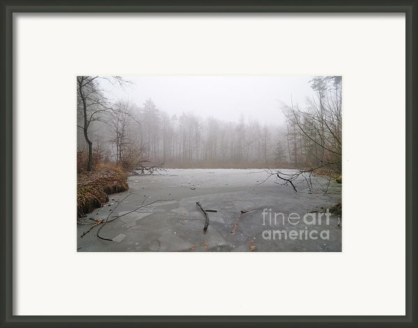 Frozen Lake In Winter Framed Print By Matthias Hauser