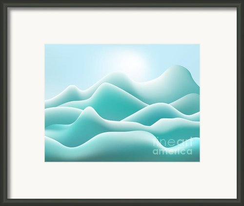 Frozen Landscape Framed Print By Dave Gordon