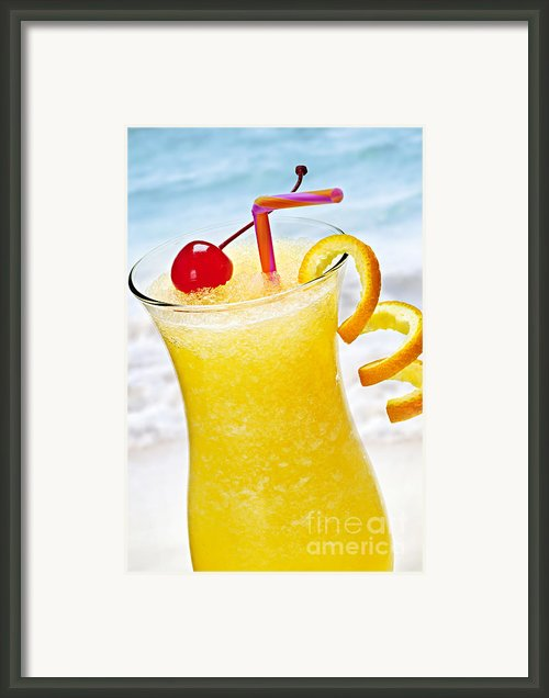 Frozen Tropical Orange Drink Framed Print By Elena Elisseeva
