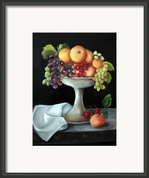 Fruit Bowl Framed Print By Carol Sweetwood