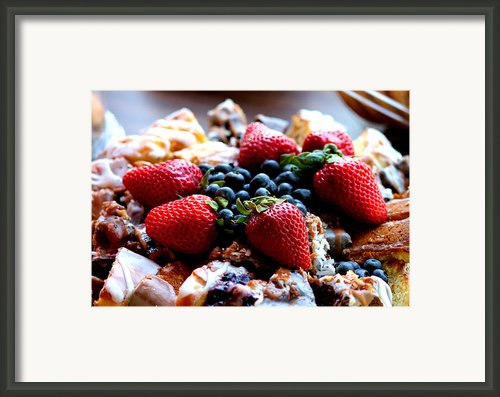 Fruit Snack Framed Print By Karen M Scovill