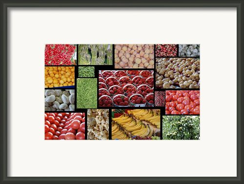 Fruits Mosaic Framed Print By Francois Cartier