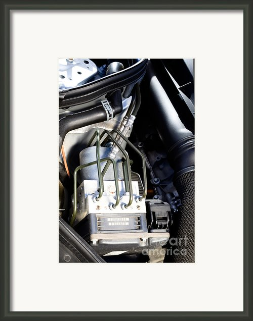 Fuel Injection System Framed Print By Photo Researchers
