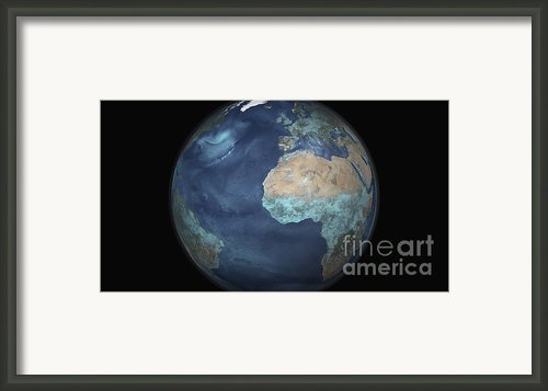 Full Earth Showing Evaporation Framed Print By Stocktrek Images